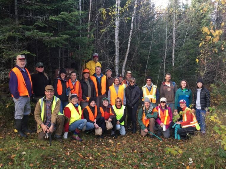 BANADAD TRAIL ASSOCIATION'S TRAIL CLEARING, Poplar Creek and Canoe Outfitting